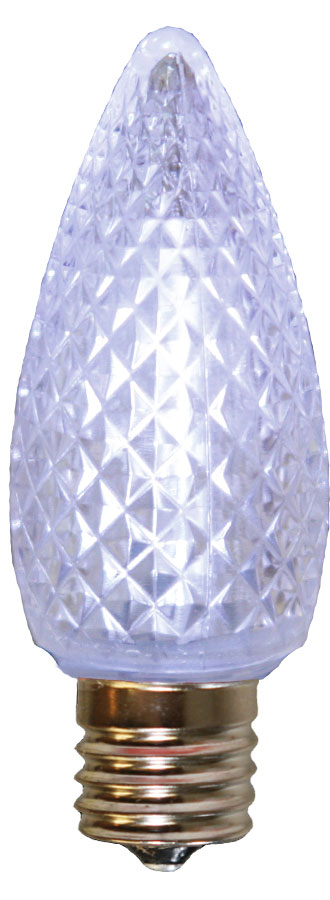 Pure White Faceted LED C9 Linear Light Strand Bulbs - 25 Pack