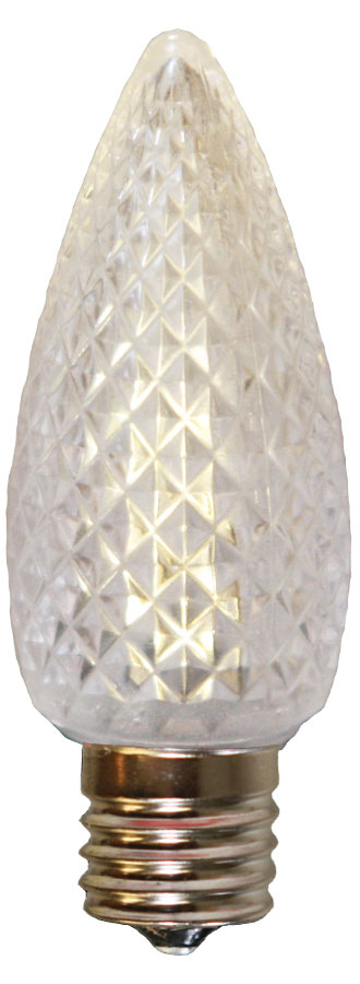 Warm White Faceted LED C9 Linear Light Strand Bulbs - 25 Pack