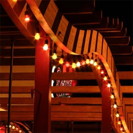 48 Foot Cafe String Lights Outdoor Patio Lights