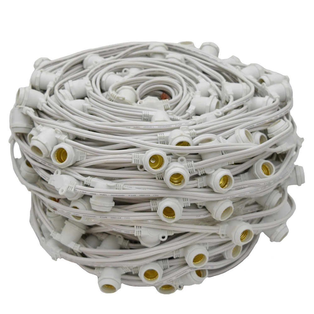 330' Commercial Linear Light String Strand - Intermediate Base - White
