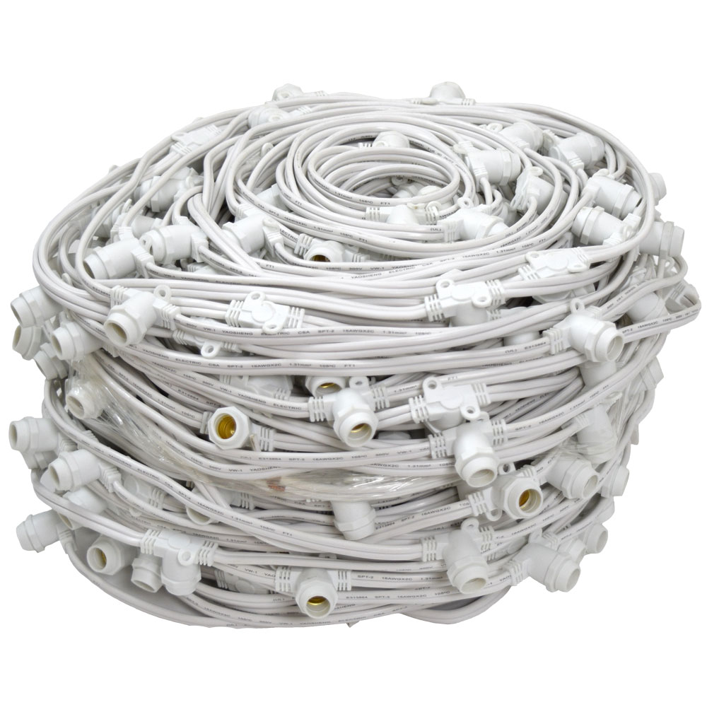 330' Commercial Linear Light Strand - Candelabra Base - White