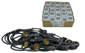 Starter Kit - 48' Commercial Linear Light String Strand - Medium Base Suspended - Black - LSM-S-48-BLK-KIT