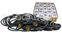 Starter Kit - 48' Commercial Linear Light String Strand - Medium Base - Black - LSM-48-BLK-KIT