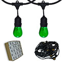 48' Lucky Green Commercial Suspended String Light Kit - LSM-S-48-BLK-L
