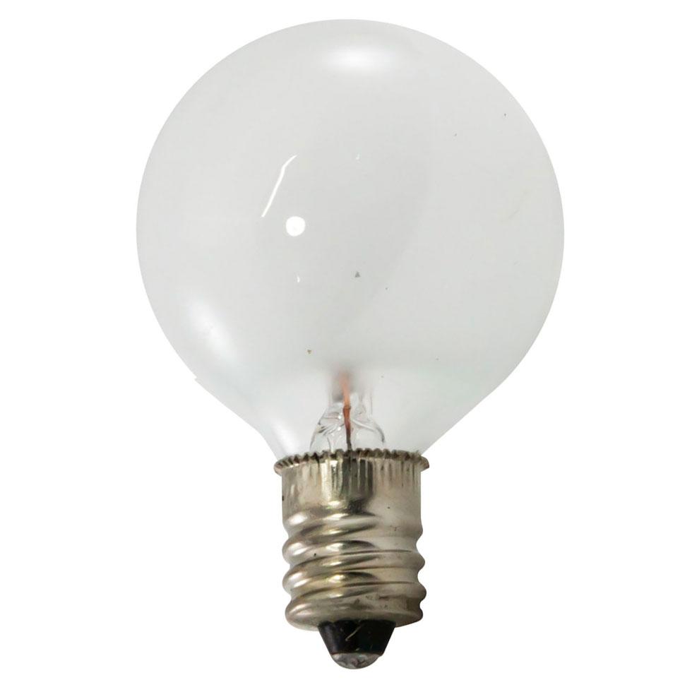 7 5 Watt Candelabra Base Linear Commercial Light Stringer Bulb 25 Pack Frosted Festival