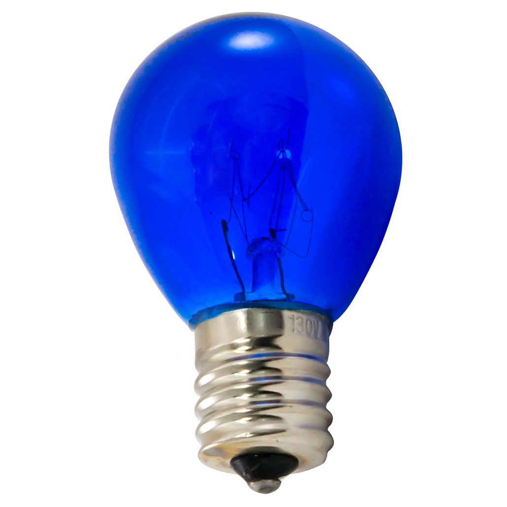 10 watt blue S11 intermediate base light bulb