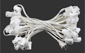 "Indoor/Outdoor Candelabra Base Globe Party String Light Strand Set - White Wire - 25 Clear Bulbs - 12"" Spacing - AIS-25WHC7OD"