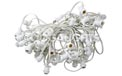 "Indoor/Outdoor Candelabra Base Globe Party String Light Strand Set - White Wire - 50 Clear Bulbs - 12"" Spacing - AIS-50WHC7OD"