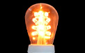 LED S14 Light Bulb - Medium Base - Amber/Glass - LI-S14LED-AM/GL