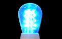 LED S14 Light Bulb - Medium Base - Blue/Glass - LI-S14LED-BL/GL
