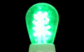 LED S14 Light Bulb - Medium Base - Green/Glass - LI-S14LED-GR/GL
