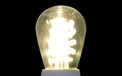 LED S14 Light Bulb - Medium Base - Warm White/Glass - LI-S14LED-WW/GL