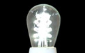 LED S14 Light Bulb - Medium Base - Pure White/Glass - LI-S14LED-PW/GL