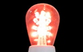LED S14 Light Bulb - Medium Base - Red/Glass - LI-S14LED-RE/GL