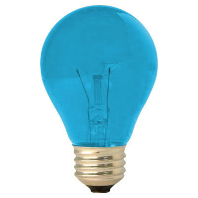 GE Lighting [22732] 25W A19 Decorative Party Light Bulb - Teal