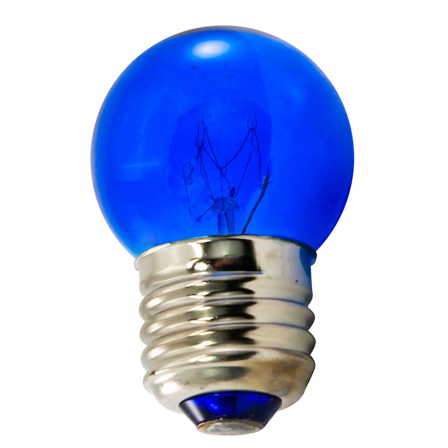 7.5 Watt S11 Medium Base Blue Light Bulb