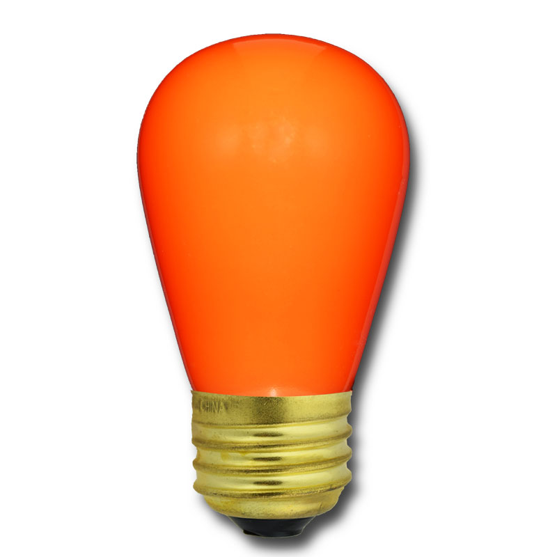 Ceramic Light Bulbs: ... Orange Ceramic Light Bulbs - 11 Watt S14 Medium Base - 25 Pack ...,Lighting