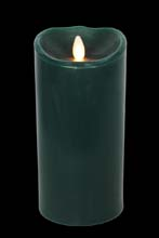 Battery Operated Flameless Candle - Forest Green 9""