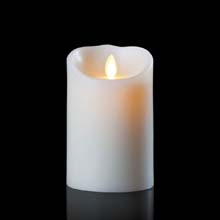 "Luminara Battery Operated Flameless Candle - 7"" Ivory"