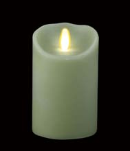 "Luminara Battery Operated Flameless Candle - 7"" Light Green"
