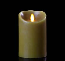 "Luminara Battery Operated Flameless Candle - 7"" Sage"