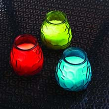 Color Assorted Glass Citronella Candles