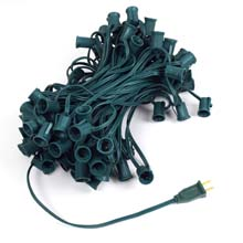 "Commercial C7 Light Strand - 12"" Spacing - 100' Strand"