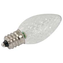 Pure White Faceted LED C7 Linear Light Strand Bulbs