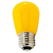 Frosted Yellow LED Professional S14 Light Bulbs