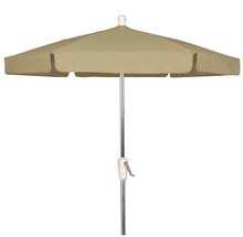 Beige Canopy Outdoor Garden Umbrella - Bright Aluminum