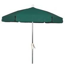Forest Green Outdoor Garden Umbrella - Bright Aluminum