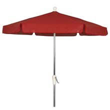 Red Outdoor Garden Umbrella - Bright Aluminum