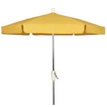 Yellow Outdoor Garden Umbrella - Bright Aluminum