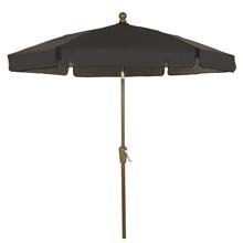 Black Outdoor Garden Umbrella - Bronze Finish