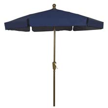 Navy Blue Canopy Garden Umbrella - Bronze Finish
