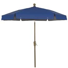 Pacific Blue Hexagon Garden Umbrella - Bronze Finish