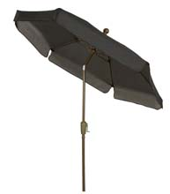 Black Canopy Tilting Garden Umbrella - Bronze Finish