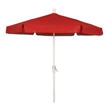 Red Canopy Hexagon Garden Umbrella