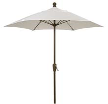 7.5' Natural Canopy Patio Umbrella - Bronze Finish