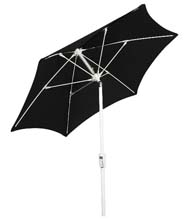Black Hexagon Patio Tilt Umbrella