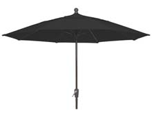 9' Black Canopy Crank Lift Patio Umbrella - Bronze Finish