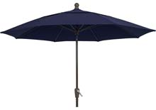9' Navy Blue Patio Umbrella - Bronze Finish - Crank Lift FB-9HCRCB-NAVY