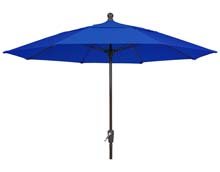 9' Pacific Blue Patio Umbrella - Bronze Finish - Crank Lift FB-9HCRCB-PACIFIC