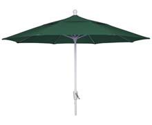 9' Forest Green Patio Umbrella - White Finish - Crank Lift FB-9HCRW-FGREEN