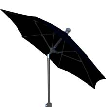 7.5' Black Tilt Terrace Umbrella - Bronze Finish - Crank Lift FB-7TCRCB-T-BLACK