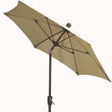 7.5' Natural Tilt Terrace Umbrella - Bronze Finish - Crank Lift FB-7TCRCB-T-NATURAL