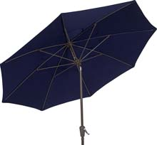 7.5' Navy Blue Tilt Terrace Umbrella - Bronze Finish - Crank Lift FB-7TCRCB-T-NAVY