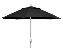 7.5' Black Terrace Umbrella - White Finish - Crank Lift FB-7TCRW-BLACK
