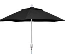 9' Black Terrace Umbrella - White Finish - Crank Lift FB-9TCRW-BLACK