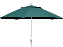 9' Forest Green Terrace Umbrella - White Finish - Crank Lift FB-9TCRW-FGREEN